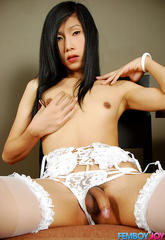 Flat chested asian femboy beats her meat  silent but horny asian femboy bang. Silent but lascivious Asian femboy Bang